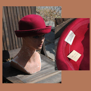 FIRST ISSUE LIZ CLAIBORNE Wool Felt Hat - NWT